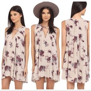 Free People Tree Swing Floral Tunic Dress